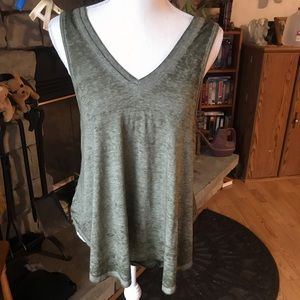 Free People Green Top Small